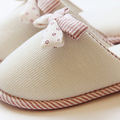 Fortuning's JDS Unisexo Adultos Pareja acogedor Lana Casa Calzado ovejas encantadoras Confortable Zapatillas Blanco