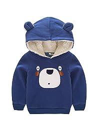 Aivtalk Boys Cotton Pullover Hoodies Outerwear Cartoon Bear Sweatshirt 2-7y