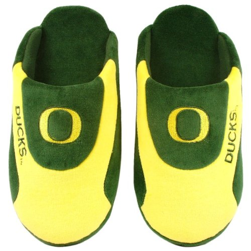 Happy Feet Mens and Womens Officially Licensed NCAA College Low Pro Slippers Oregon Ducks 3JVgu2D