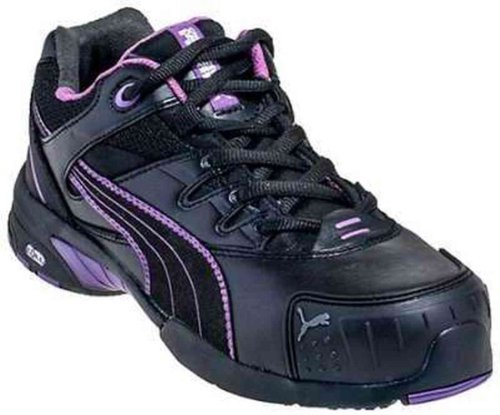 SD Stepper Women's Low Safety 8D BLK Safety Puma Toe Shoes PURPLE E66waqt