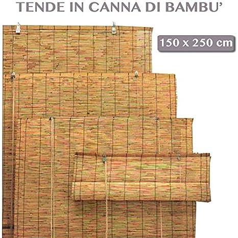 Tende Per Esterno In Bambu.Arella Bamboo Con Carrucola Da Esterno Giardino Tende Da Sole Per