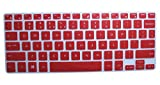 CaseBuy Ultra Thin Silicone Keyboard Protector Cover Skin for Dell XPS 13-9343 13-9350 13-9360 13.3-Inch(DO NOT Fit XPS 13 9365), Red