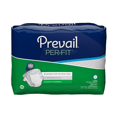 - Prevail Per-Fit Maximum Absorbency Incontinence Briefs, Large, 18-Count
