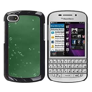 LECELL -- Funda protectora / Cubierta / Piel For BlackBerry Q10 -- Water Drop Green --