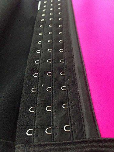 PULABO Mujer Fajas Reductoras de Cinturón Formación para Cincher Underbust Bustiers Corsé Rosa