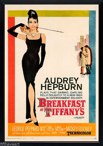 Top breakfast at tiffany's poster framed for 2020