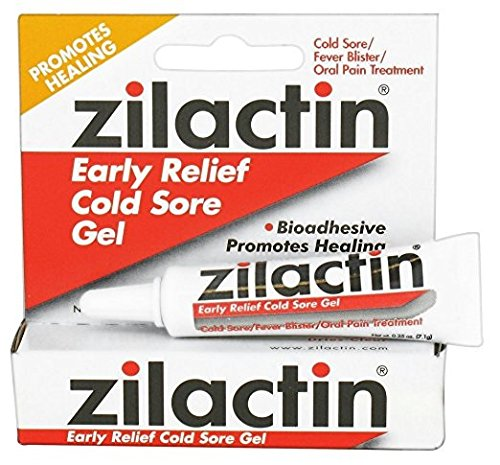 Zilactin Early Relief Cold Sore Gel, 0.25 oz per (Blairex Labs)
