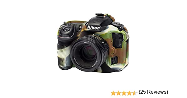 EasyCover by Bilora Carcasa de Silicona para Nikon D500/Camuflaje//Negro