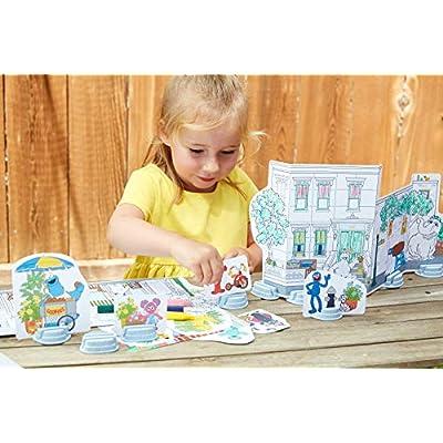 Green Toys SSCPT-1325 Sesame Street Neighborhood Maker Coloring Activity Set, Multi: Toys & Games