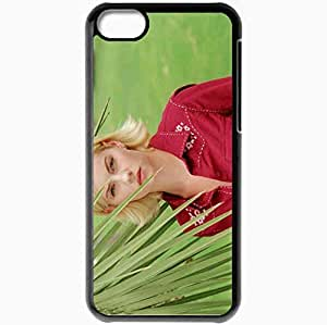 Personalized iPhone 5C Cell phone Case/Cover Skin Elisha Cuthbert Black