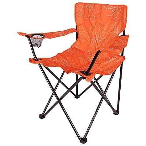 Camping 14576653 - Silla plegable, naranja: Amazon.es: Jardín