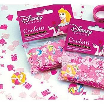 princess table confetti
