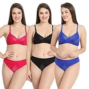Earmark Lingerie Sets Multi Colour Pack of 3