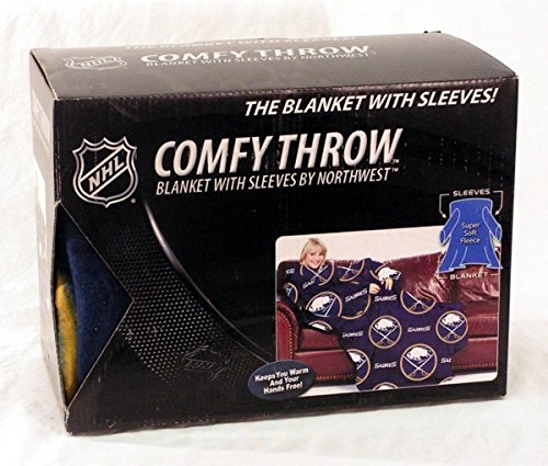 (Buffalo Sabres Adult Comfy Throw - The Blanket with Sleeves)