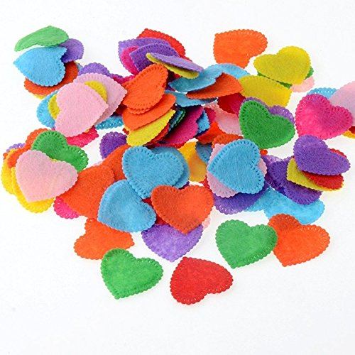 Heart Felt Fabric Appliques Scrapbooking Craft Making Wedding Home Decoration Decor DIY