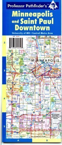 Minneapolis and Saint Paul Downtown (Cities Street Map Twin)