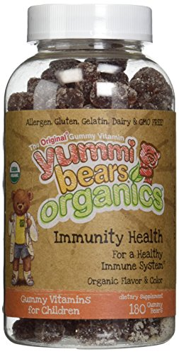 Yummi Bears Organics Immunity Health - 2 Bottles, 180 Gummies Each by Yummi Bears Organics