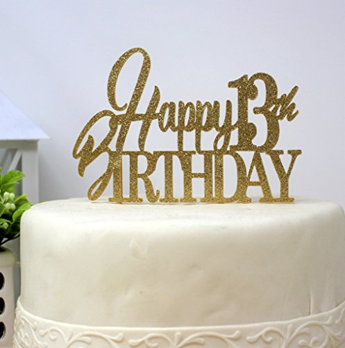 (All About Details Happy 13th Birthday Cake Topper)