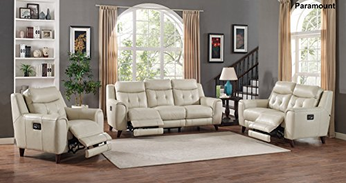 Amax Leather Paramount Power Reclining Sofa three-pc set ...