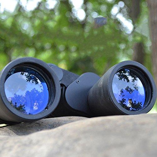 YU 10X50 Binoculars Optical Coating Hd Zoom 10 Times the Telescope Travel Essential,Black,10X50