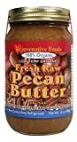TWO 16 oz. Fresh-Pure-Raw Smooth Organic Pecan Butter Rejuvenative Foods Low-Temp-Ground Vegan Artisan In-Glass Vitamin-Protein-Antioxidant-Mineral-Nutrition USDA-Certified-Organic (2-16 oz.)