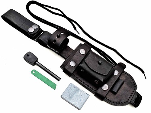 CFK Cutlery Company USA Custom Handcrafted BLACK Modular Bushcraft Tracker Tactical Blade Knife DUAL-CARRY / DANGLER / HORIZONTAL / VERTICAL Sheath  …