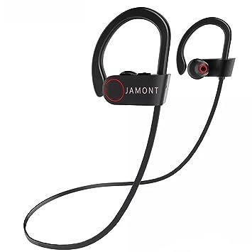 Jamont Bluetooth auriculares inalámbricos deportes auriculares Waterproof Auriculares Auriculares a prueba de sudor V4.1 integrado Clear Bass stereophones ...