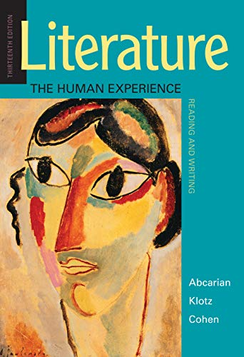 Literature: The Human Experience; Reading and Writing (Literature The Human Experience With 2016 Mla Update)