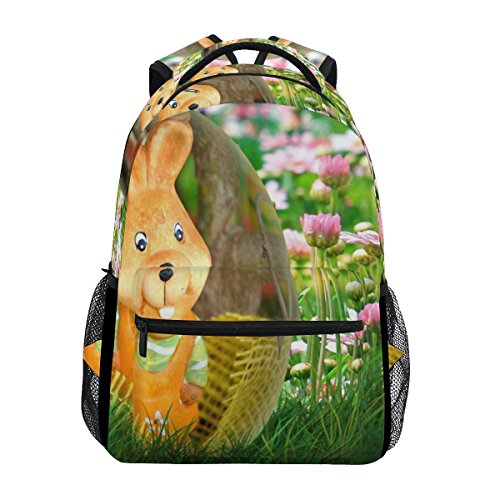 - OREZI School Backpacks for Boys Teen Girls Kids,Cute Rabbit Placemats Celebrate Easter Computer Backpacks Book Bag Travel Hiking Camping Daypack