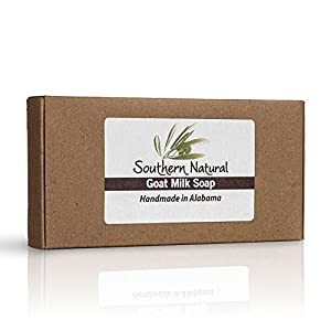 Lavender Goat Milk Soap Bars - For Eczema, Psoriasis & Dry Sensitive Skin! 100% Natural Handmade Soap. Gentle Baby Soap, Face soap & Body Soap. (Apprx 4 oz bars)