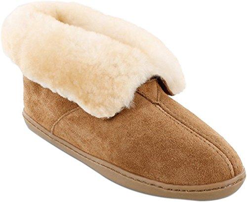 Minnetonka Women's Sheepskin Ankle Boot Golden Tan 11 W US