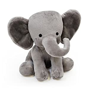 Bedtime Originals Plush Toy, Humphrey Elephant - 512wF3yP3FL - Bedtime Originals Choo Choo Express Plush Elephant – Humphrey