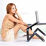 GrainC Ergonomics Adjustable Vented Laptop Table Laptop Computer Desk Portable Bed Tray Book from US