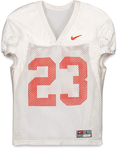 Clemson Tigers Practice-Used #23 White Jersey from the 2015-17 Football Seasons - Size L - Fanatics Authentic Certified ()