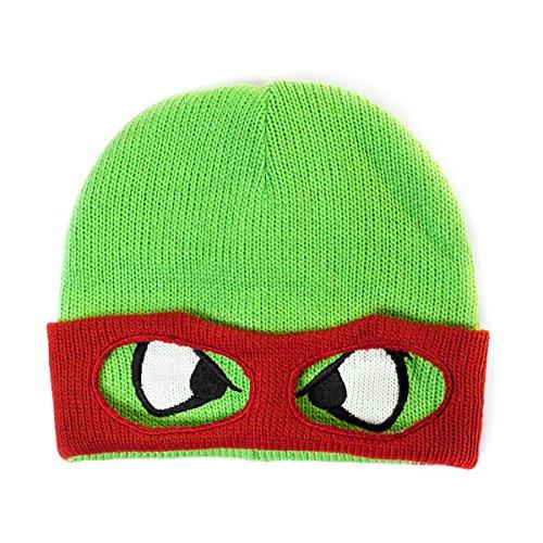 Ninja Turtle Beanie (Teenage Mutant Ninja Turtles Red Reversible Rolled Beanie One Size)