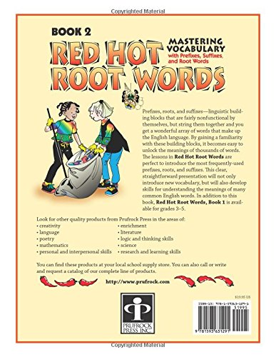 Amazon.com: Red Hot Root Words: Mastering Vocabulary With Prefixes ...