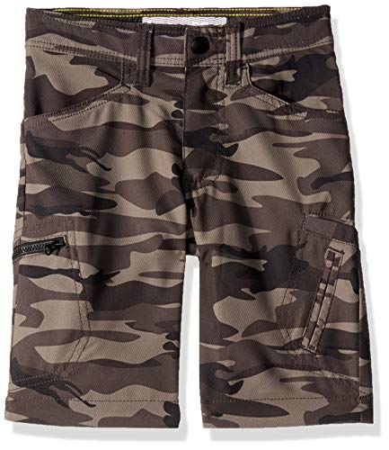 LEE Boys' Big Dungarees Grafton Cargo Short, Woodland Camo 16 Regular