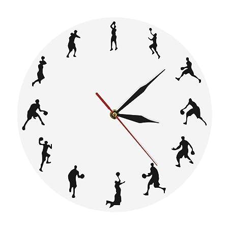 ZYCLOCK Reloj de Pared DIY Jugadores De Baloncesto Juego De ...