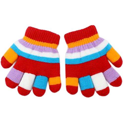 改修信条透明に1ペア1 – 4歳ベビーミトンダブルレイヤミトン冬手袋、黄色猫