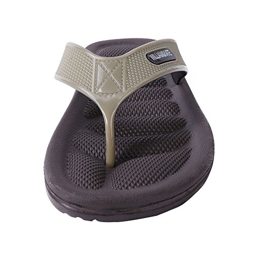 Sandals Flip Men's amp;KATE Flops Slippers Sandals Fashion Brown WILLIAM Foot Health Reflexology Massage x8p68I