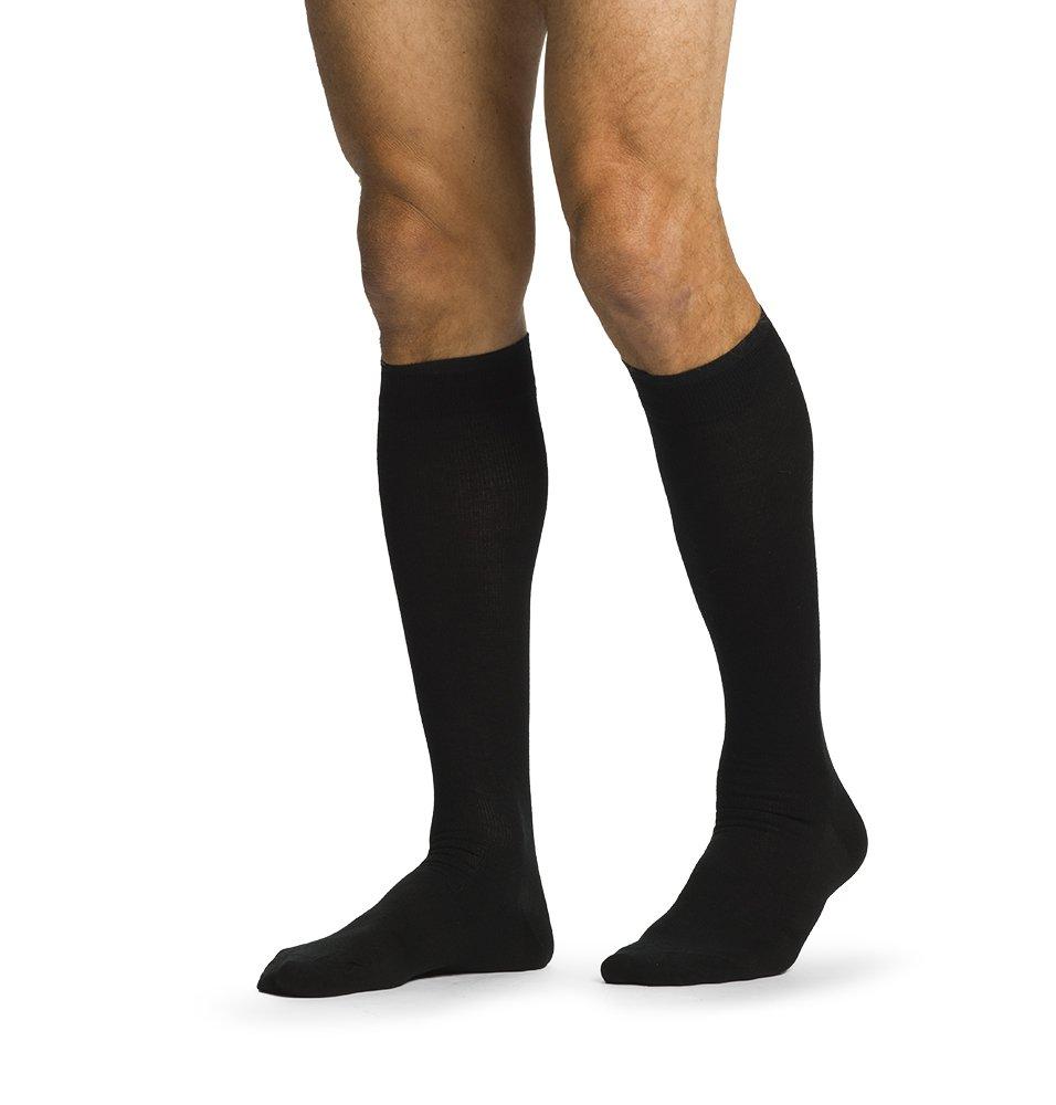 SIGVARIS Men's ALL-SEASON MERINO WOOL 192 Calf High Compression Socks 15-20mmHg