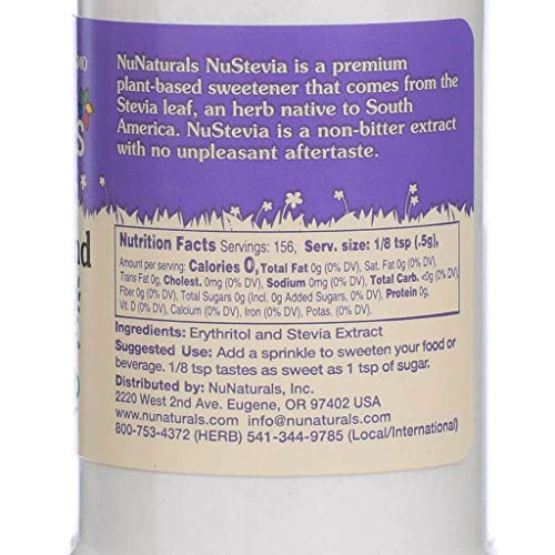 NuNaturals NoCarb Blend Powder All Purpose Natural Sweetener, Sugar-Free, Zero Calorie (2.75 oz) by NuNaturals (Image #3)