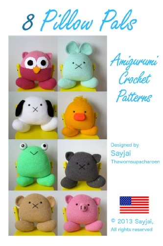 Amazoncom 8 Pillow Pals Amigurumi Crochet Patterns Easy Crochet