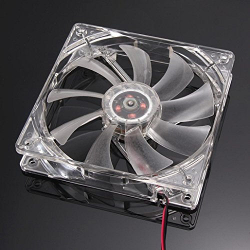 120mm 4Pin 4-LED Light PC Computer Case Neon Cooling Fan,Tuscom (Red)