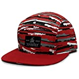 City Hunter Cn640 Brushed Camo 5 Panel Biker Hats - Red