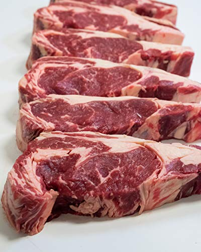 Harris Robinette Ribeye Steak, Natural 100% Grass Fed Beef - Made in the USA - Thick Carved, Premium Cut - 6 Steaks