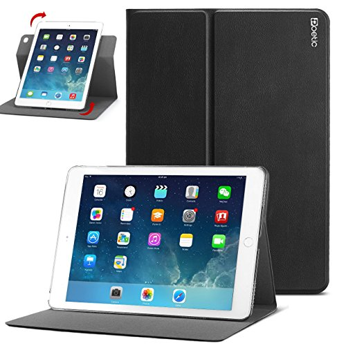 iPad Air 2 Case - Poetic iPad Air 2 Case [DuraBook Series] - Slim 360 Degree Rotary Standing Case for Apple iPad Air 2 Black (3 Year Manufacturer Warranty From Poetic) from Poetic