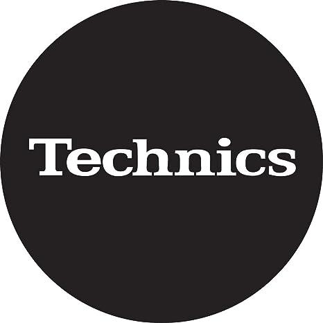 Technics DMC - Turntable Slipmats (1 par) color negro y blanco ...