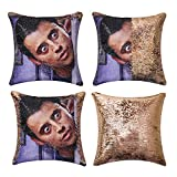 Jasen Friends Joey Tribbiani Sequin Pillow Cover Magic Two Color Changing Pillowcase Mermaid Pillow Custom Pillow Cover Gift for Her Him(Champagne Gold)