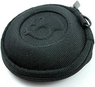 Bolsa para Auriculares y Auriculares, Almacenamiento de protección portátil con Cremallera. Round Pouch Box 8cm de diámetro. (Caso para Auriculares)